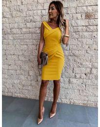 Φόρεμα - κώδ. 1104 - μουσταρδί