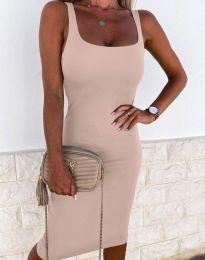 Φόρεμα - κώδ. 8899 - μπεζ