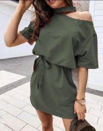 Φόρεμα - κώδ. 0256 - 3 - λαδί