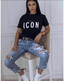 Κοντομάνικο μπλουζάκι - κώδ. 903 - μαύρο