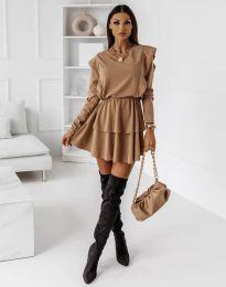 Φόρεμα - κώδ. 12042 - καπουτσίνο
