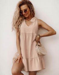 Φόρεμα - κώδ. 7206 - μπεζ