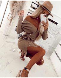 Φόρεμα - κώδ. 2077 - καφέ