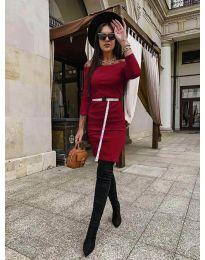 Φόρεμα - κώδ. 5190 - μπορντό