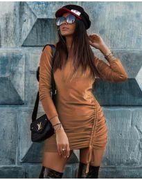 Φόρεμα - κώδ. 9545 - καφέ