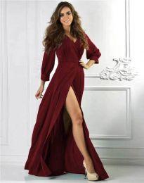Φόρεμα - κώδ. 4118 - μπορντό