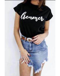 Κοντομάνικο μπλουζάκι - κώδ. 517 - μαύρο