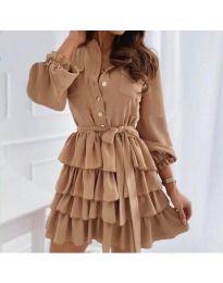 Φόρεμα - κώδ. 7356 - καφέ