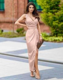 Φόρεμα - κώδ. 6135 - ανοιχτό ροζ
