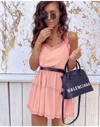 Φόρεμα - κώδ. 7758 - ροζ
