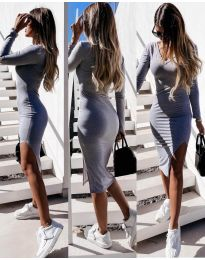 Φόρεμα - κώδ. 8291 - γκρι