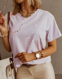 Κοντομάνικο μπλουζάκι - κώδ. 0401 - 1 - Ανοιχτό μωβ