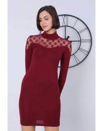Φόρεμα - κώδ. 6099 - 2 - μπορντό