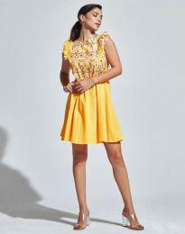 Φόρεμα - κώδ. 1482 - 3 - κίτρινο