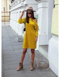 Φόρεμα - κώδ. 8171 - μουσταρδί