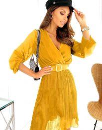 Φόρεμα - κώδ. 3497 - μουσταρδί