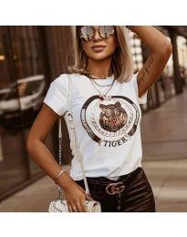 Κοντομάνικο μπλουζάκι - κώδ. 2126 - λευκό