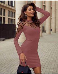 Φόρεμα - κώδ. 2484 - πούδρα