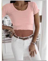 Κοντομάνικο μπλουζάκι - κώδ. 530 - ροζ