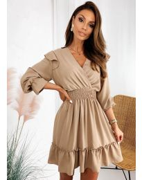 Φόρεμα - κώδ. 8554 - μπεζ