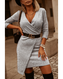 Φόρεμα - κώδ. 9977 - γκρι