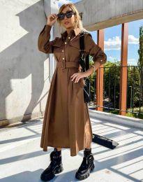 Φόρεμα - κώδ. 1467 - καφέ