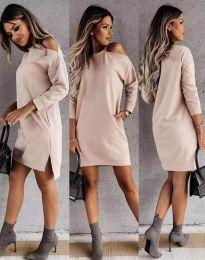 Φόρεμα - κώδ. 8858 - μπεζ