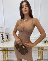 Φόρεμα - κώδ. 11808 - καπουτσίνο