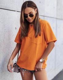 Κοντομάνικο μπλουζάκι - κώδ. 11953 - πορτοκάλι