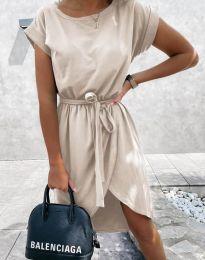 Φόρεμα - κώδ. 2074 - μπεζ
