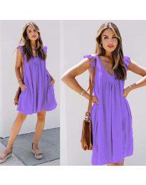 Φόρεμα - κώδ. 5090 - μωβ