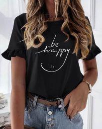 Κοντομάνικο μπλουζάκι - κώδ. 1038 - μαύρο
