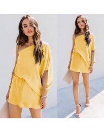 Φόρεμα - κώδ. 9933 - κίτρινο