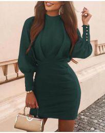 Φόρεμα - κώδ. 4016 - σκούρο πράσινο
