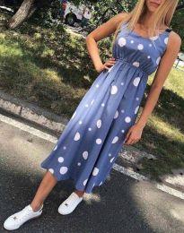 Φόρεμα - κώδ. 8122 - 2 - μπλε