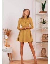 Φόρεμα - κώδ. 6619 - μουσταρδί