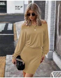 Φόρεμα - κώδ. 4447 - καφέ
