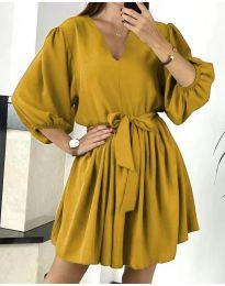 Φόρεμα - κώδ. 6210 - μουσταρδί