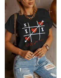 Κοντομάνικο μπλουζάκι - κώδ. 2120 - μαύρο