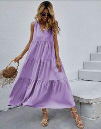 Φόρεμα - κώδ. 8149 - μωβ