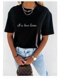 Κοντομάνικο μπλουζάκι - κώδ. 36755 - μαύρο