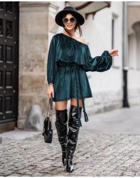 Φόρεμα - κώδ. 324 - σκούρο πράσινο