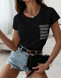 Κοντομάνικο μπλουζάκι - κώδ. 11792 - μαύρο