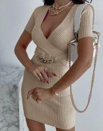 Φόρεμα - κώδ. 4305 - μπεζ