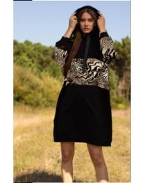 Φόρεμα - κώδ. 4546 - 2 - μαύρο