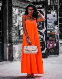 Φόρεμα - κώδ. 2301 - 1 - πορτοκαλί