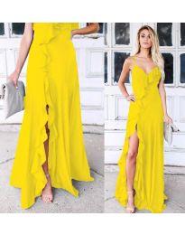 Φόρεμα - κώδ. 4488 - κίτρινο
