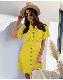 Φόρεμα - κώδ. 742 - κίτρινο