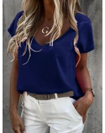 Κοντομάνικο μπλουζάκι - κώδ. 0589 - σκούρο μπλε