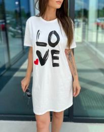 Φόρεμα - κώδ. 11887 - λευκό